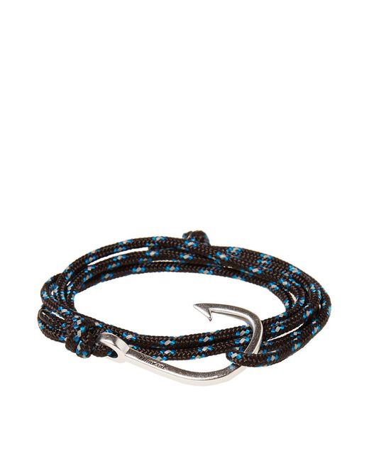 Miansai - Blue Silver Hook Rope Bracelet for Men - Lyst