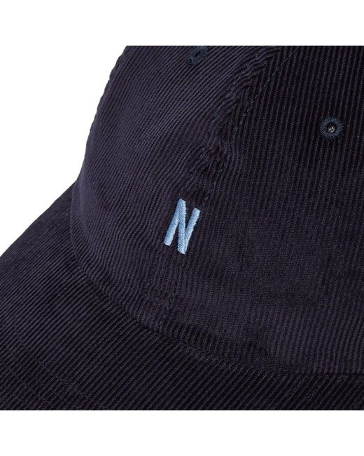 6bbe9cc8814 ... Norse Projects - Blue Thin Cord Sports Cap for Men - Lyst ...