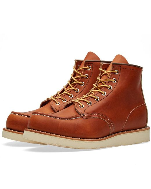 "Red Wing - Brown 875 Heritage Work 6"" Moc Toe Boot for Men - Lyst"