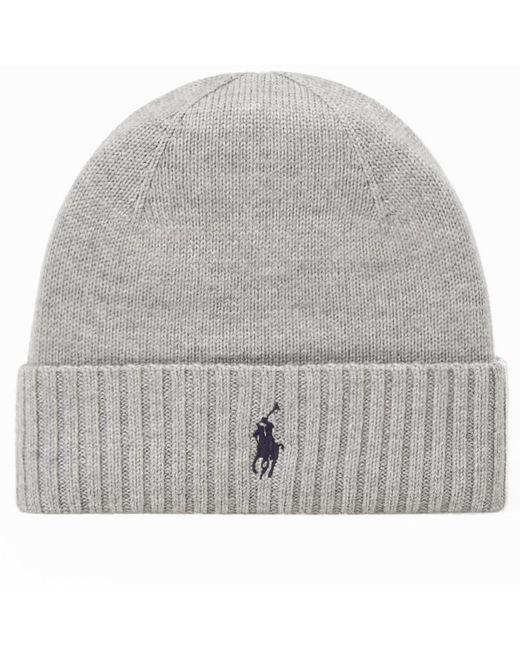 Polo Ralph Lauren | Gray Merino Wool Beanie for Men | Lyst