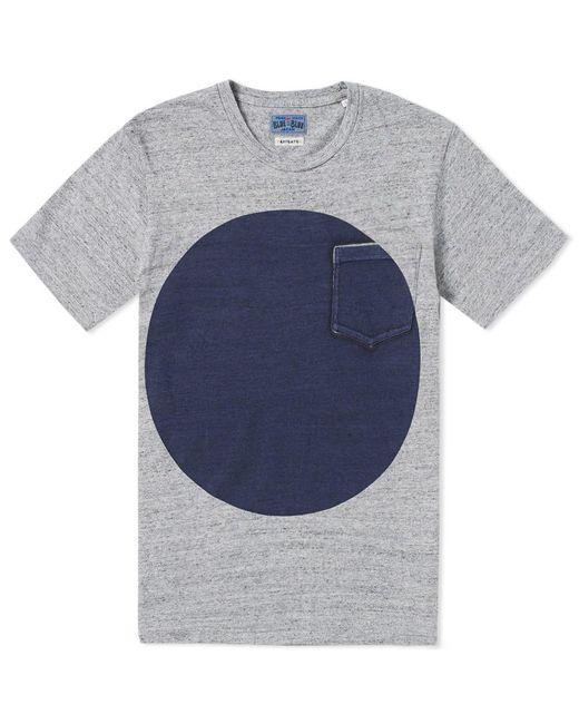 Blue Blue Japan - Gray Big Circle Print Tee for Men - Lyst