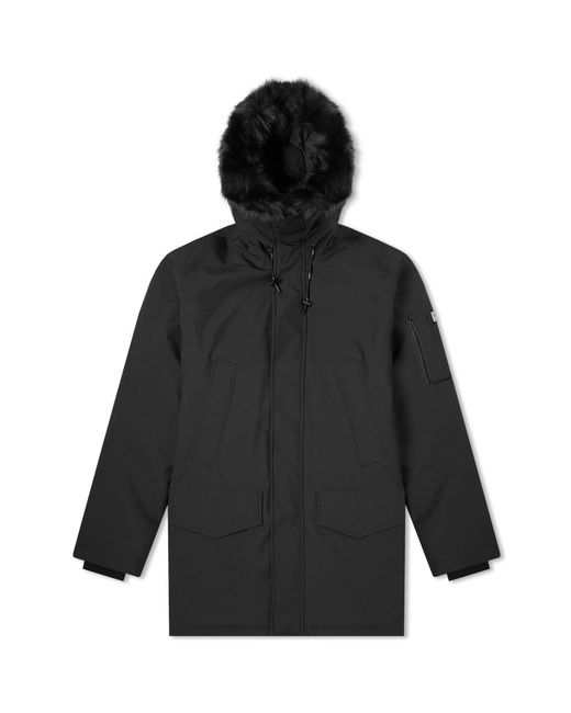 637cb0a9e KENZO - Black Fur Hooded Winter Parka for Men - Lyst ...