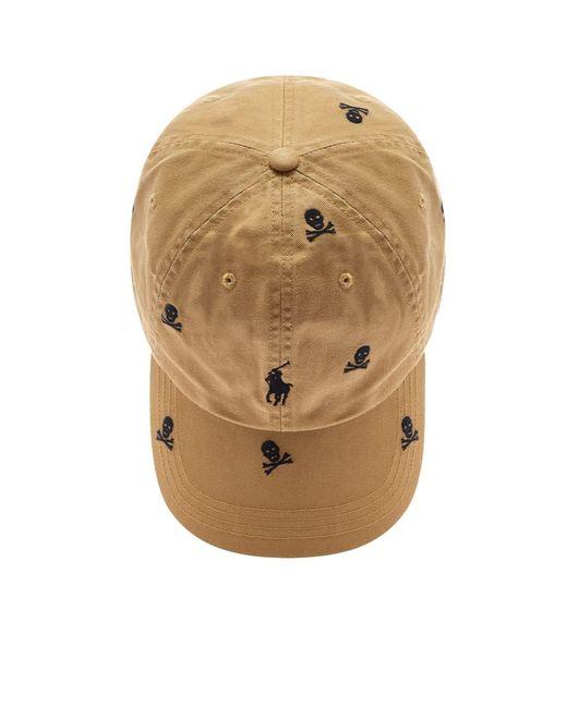 be9e352c403dc ... Lyst Polo Ralph Lauren - Brown Skull   Crossbones Baseball Cap for Men  ...