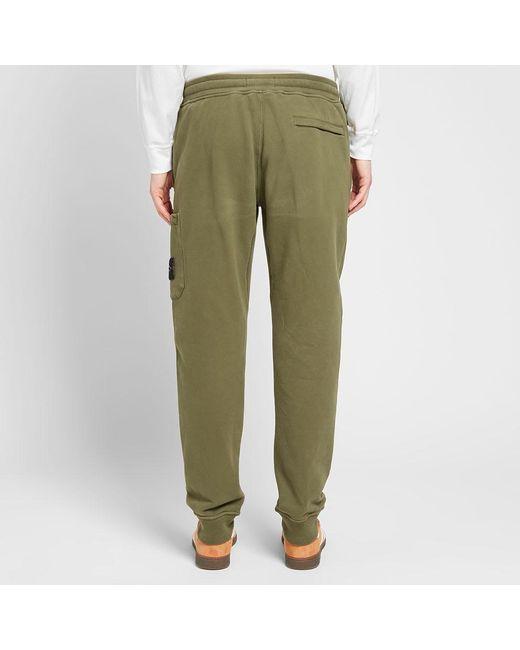 b8ebf8de25847 Stone Island Garment Dyed Cargo Sweat Pant in Green for Men - Lyst