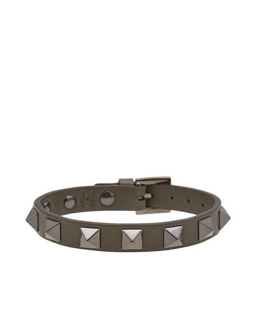 Valentino | Green Leather Rockstud Bracelet for Men | Lyst