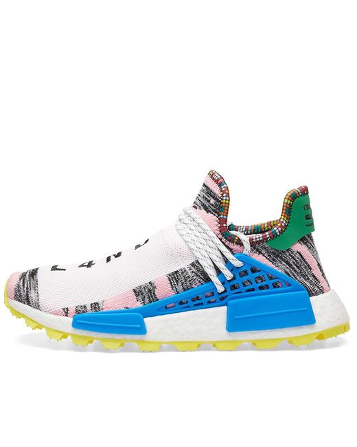 cheap for discount b7fa0 0ccf3 Men's Blue Adidas Originals By Pharrell Williams Solarhu Nmd