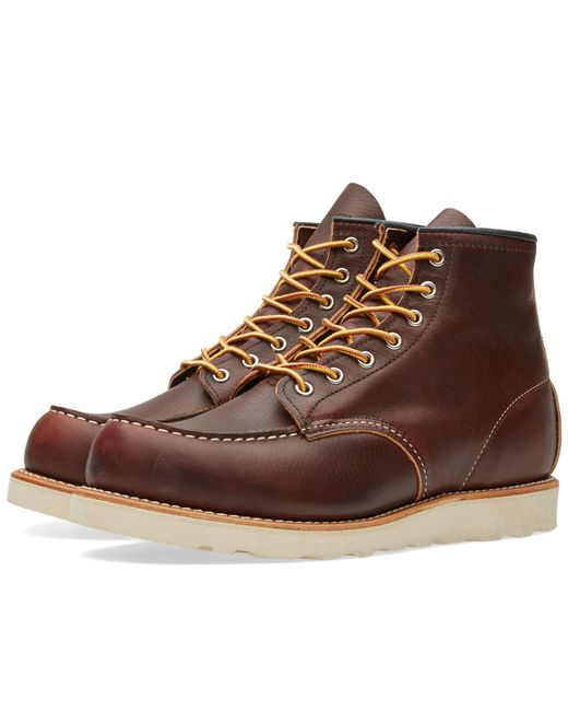 """Red Wing - Brown 8138 Heritage Work 6"""" Moc Toe Boot for Men - Lyst"""