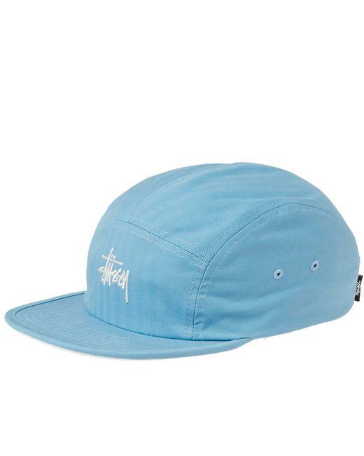 Stussy - Blue Stock Herringbone Camp Cap for Men - Lyst