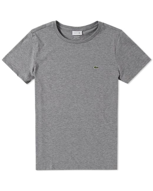 Lacoste - Gray Classic Fit Tee for Men - Lyst