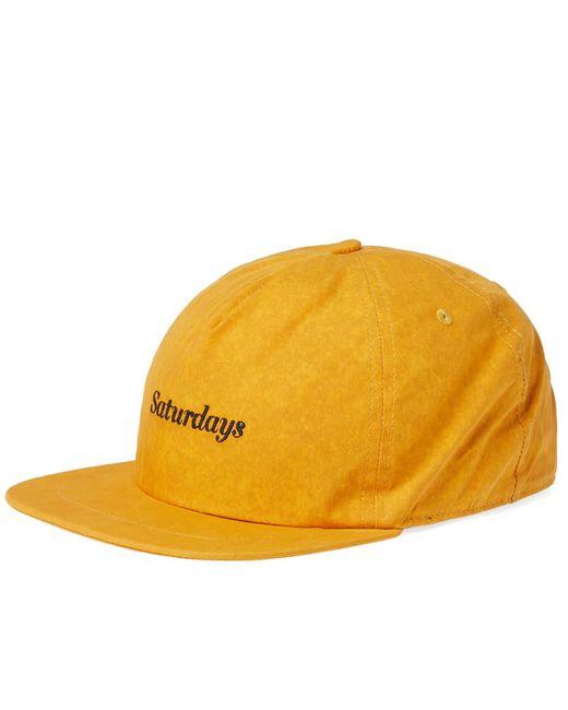 Saturdays NYC - Yellow Stanley Mineral Logo Baseball Cap for Men - Lyst