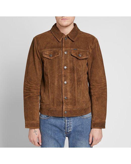 3e275e4fb Men's Brown Suede Trucker Jacket