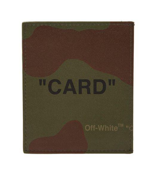 Off-White c/o Virgil Abloh Green Quote Card Holder for men
