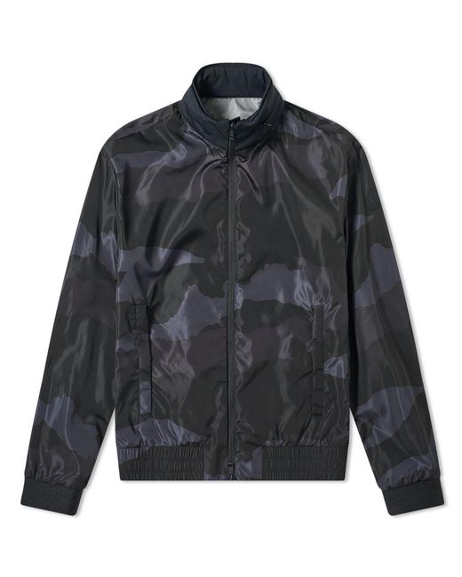Moncler Black Theodore Camo Print Bomber Jacket for men