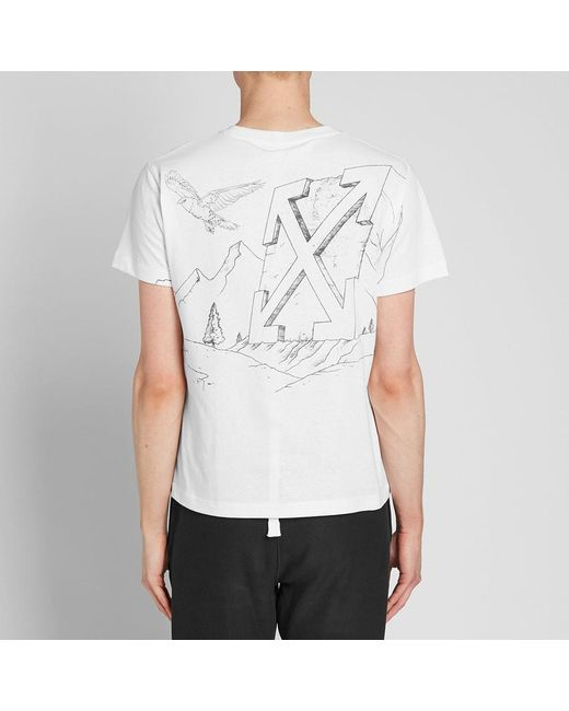 29625303 ... Off-White c/o Virgil Abloh - White Pencil Eagle Diagonals Skinny Tee  for ...