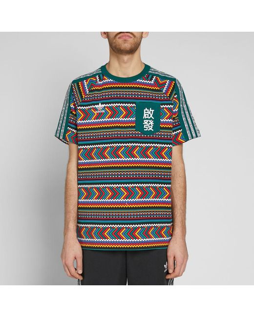 564c7b51142da ... Adidas - Multicolor By Pharrell Williams Solarhu Pocket Tee for Men -  Lyst ...