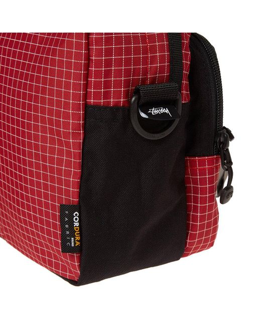 799cb5ee0b ... Stussy - Red Ripstop Nylon Shoulder Bag for Men - Lyst ...