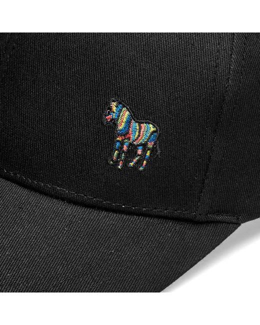 ef13ee6a679 Lyst - Paul Smith Zebra Logo Cap in Black for Men - Save 40.0%