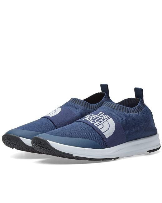The North Face - Blue Nse Traction Knit Moc Sneaker for Men - Lyst