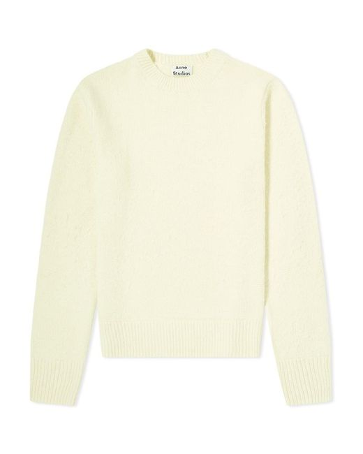 Acne Yellow Peele Cashmere Crew Knit for men
