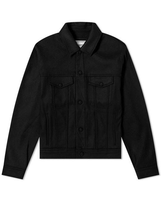 AMI Black Wool Blouson for men