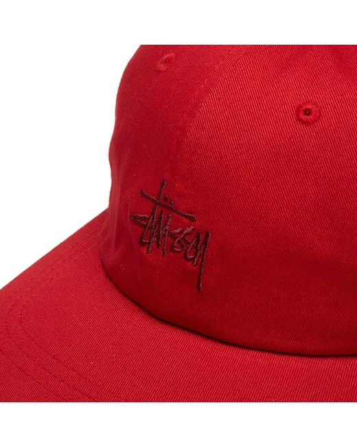 22ad0986ccc9cd ... Stussy - Red Ho18 Stock Low Pro Cap for Men - Lyst ...