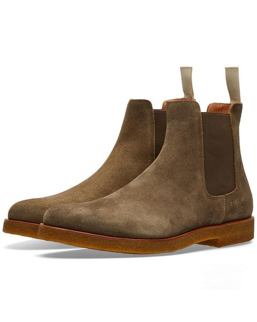 Common Projects Chelsea Boot Waxed Suede In Green For Men