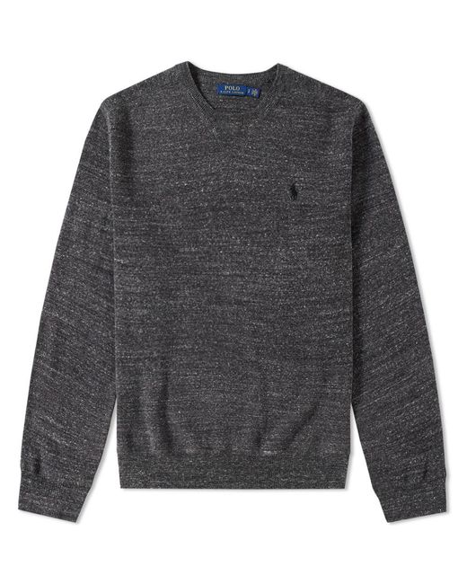 Polo Ralph Lauren - Gray Knitted Sports Crew Neck Sweat for Men - Lyst