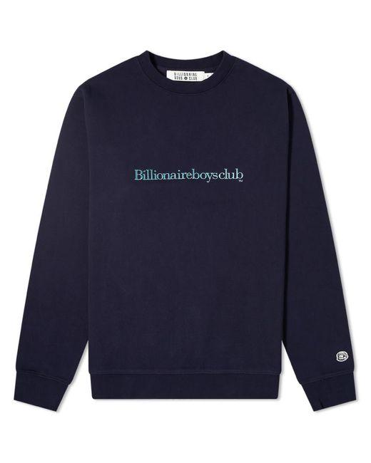 BBCICECREAM Blue Embroidered Logo Crew Sweat for men