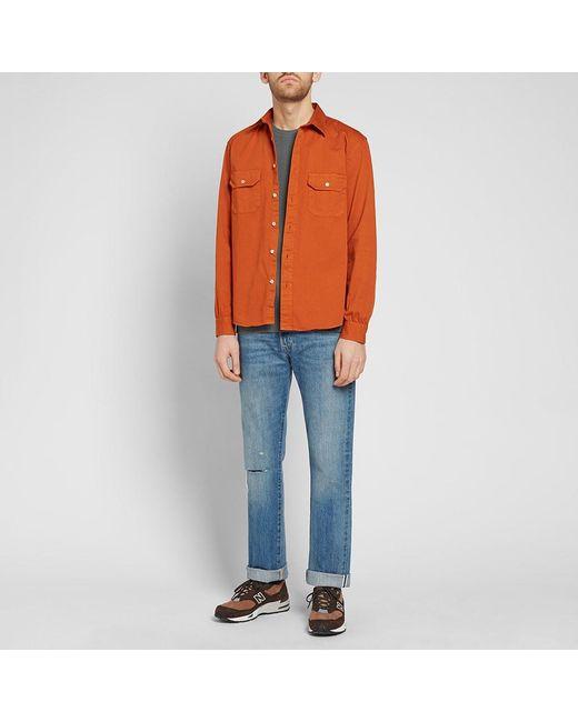 cae4ec59f9 ... Levi s - Orange Levi s Vintage Clothing Tab Twill Shirt for Men - Lyst