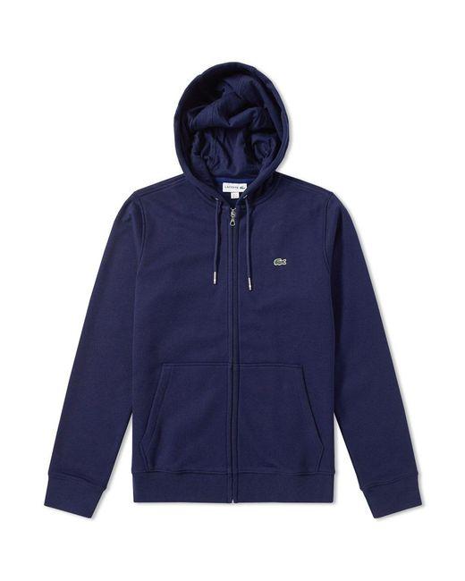 Lacoste   Blue Full Zip Hoody for Men   Lyst
