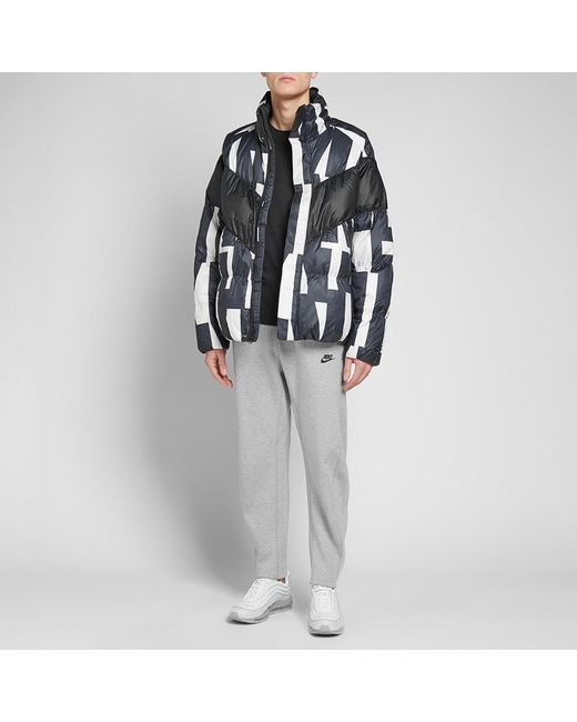 4a4d2f22224 ... Nike - Black Sportswear Quilted Printed Shell Down Jacket for Men - Lyst