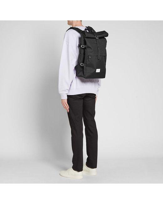 f2af9fffa0 ... Sandqvist - Black Bernt Cordura Roll Top Backpack for Men - Lyst