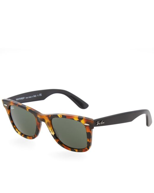 Ray-Ban Brown Original Wayfarer Fleck Sunglasses for men