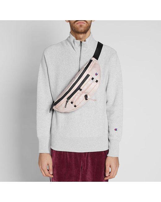 ... Champion - Pink Large Script Logo Waist Bag for Men - Lyst ... 11652dacd1