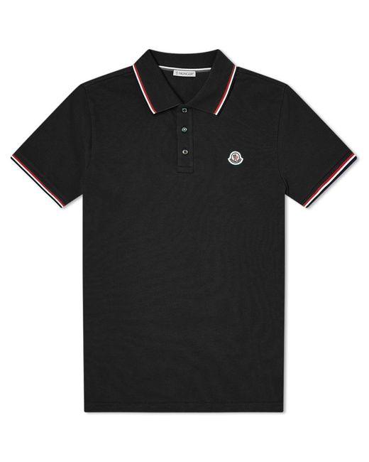 Moncler Black Classic Logo Polo for men