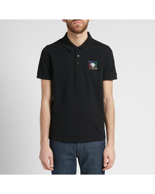 3f054c9e ... KENZO - Black Tiger Face Polo - End. Exclusive for Men - Lyst ...