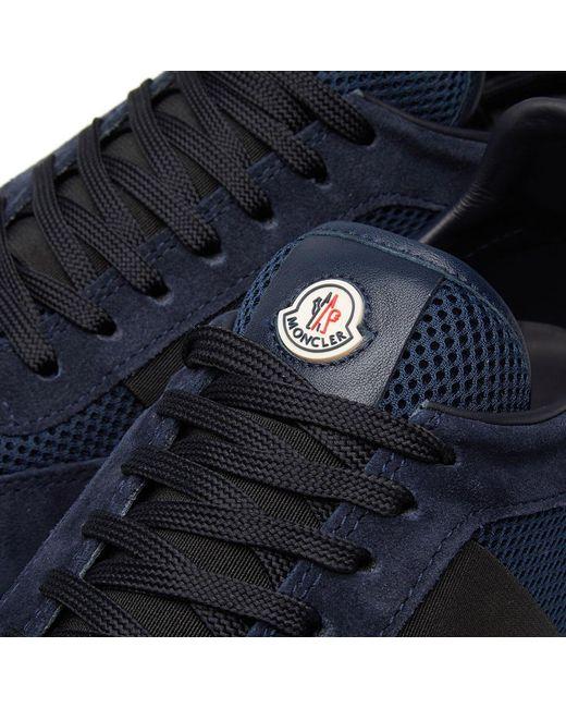 ... Moncler - Blue Horace Runner Sneaker for Men - Lyst ...