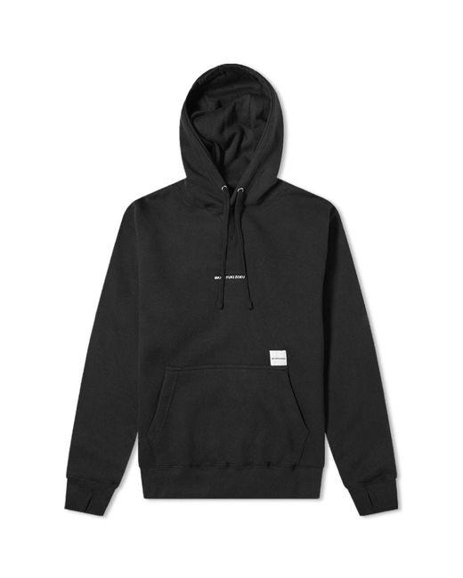 MKI Miyuki-Zoku Black Embroidered Logo Hoody for men