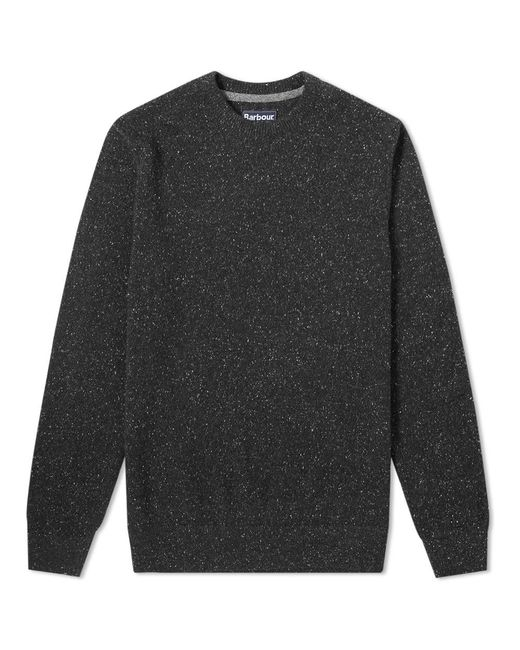 Barbour Black Tisbury Crew Knit for men