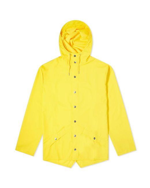 Rains Yellow Classic Jacket for men