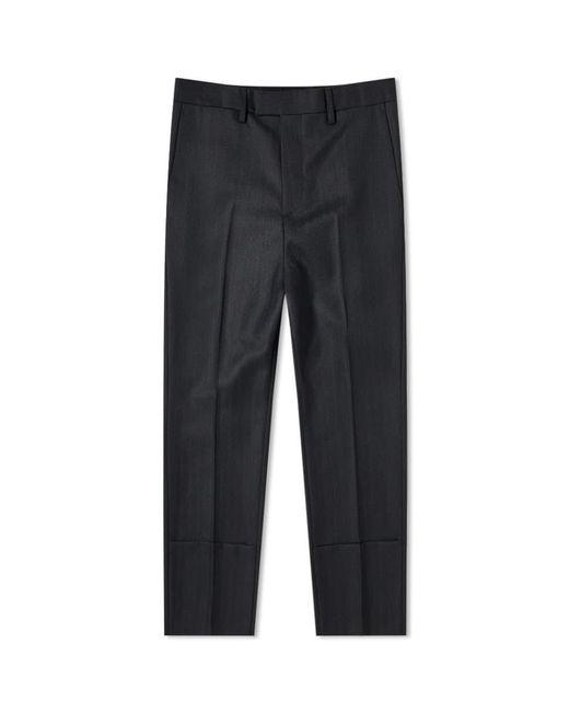 Raf Simons Black Slim Fit Turn Up Trouser for men