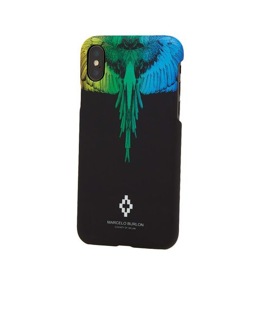 Lyst Marcelo Burlon Rainbow Wing Iphone X Case In Black