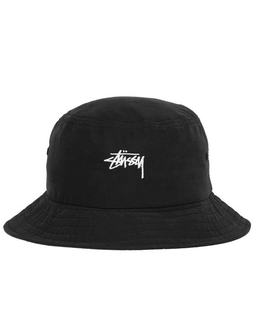 a3cb88f5d3c Stussy - Black Stock Bucket Hat for Men - Lyst ...