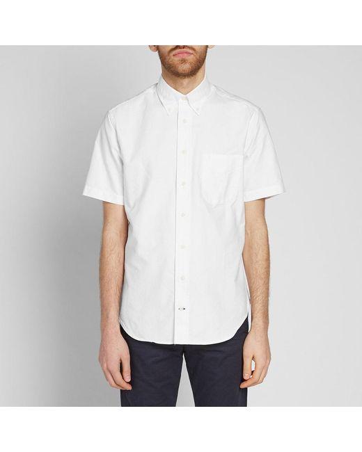 Gitman Brothers Vintage White Short Sleeve Oxford Shirt for men