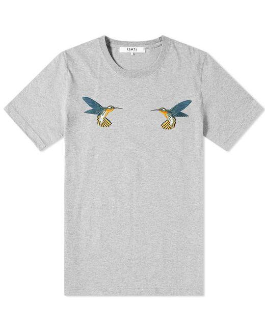 FDMTL Gray Hummingbird Tee for men
