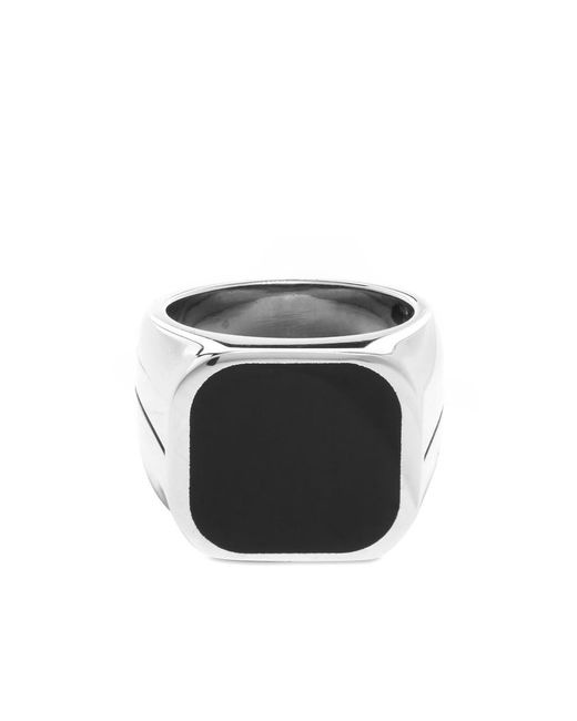 Givenchy Metallic Round Signature Signet Ring for men