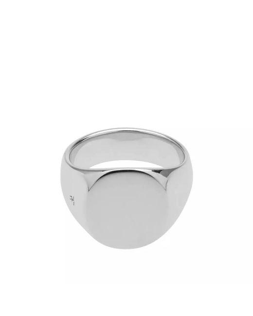 Tom Wood Metallic Oval Polished Ring for men