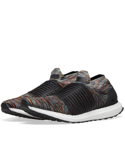 9a592294d6a Adidas - Black Ultra Boost Laceless for Men - Lyst ...