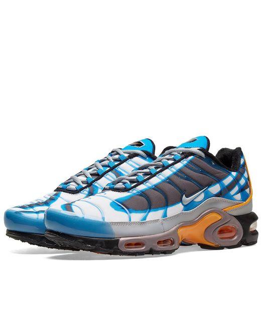 new products eaf26 9268e Men's Blue Air Max Plus Premium Shoe