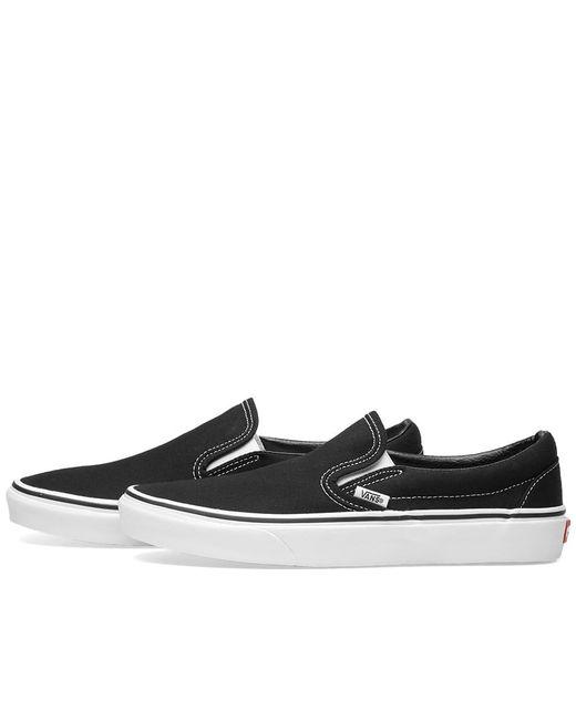 f2662bb699fea9 ... Vans - Black Classic Slip On for Men - Lyst ...